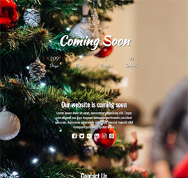 12 Days Of Christmas Landing Page Template