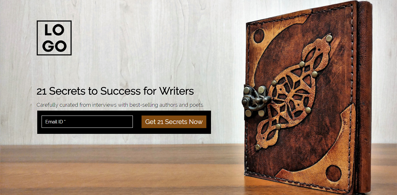21 Secrets for Writers Landing Page Template