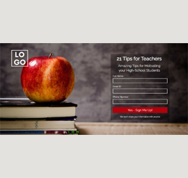 An Apple a Day Landing Page Template