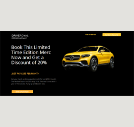 Auto Car Sale Landing Page Template
