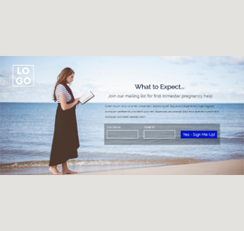 Beach Holiday Landing Page Template