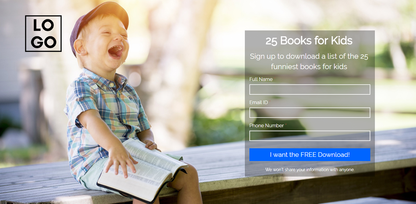 Books for Kids Landing Page Template