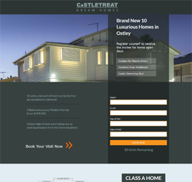 Castle Treat Real Estate Landing Page Template