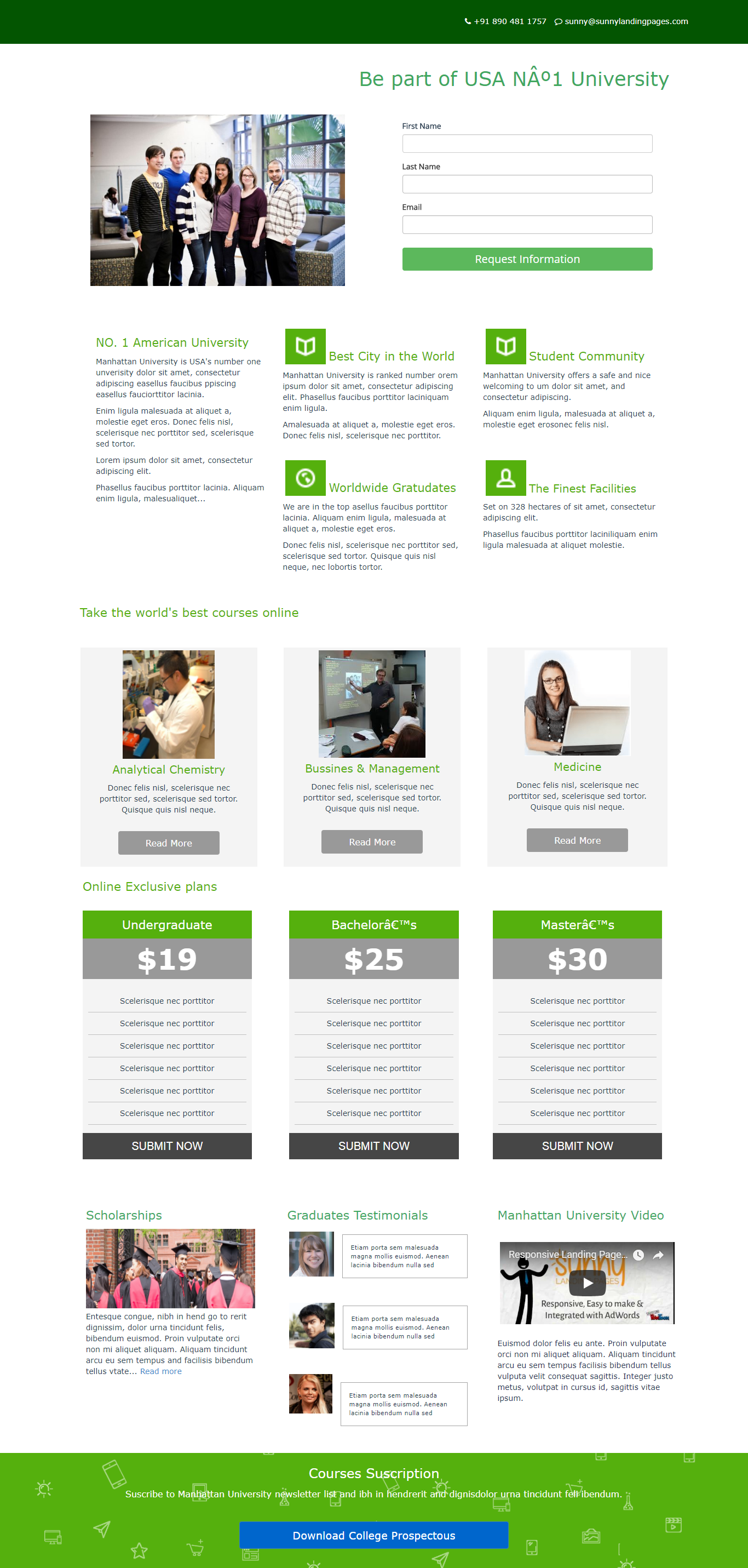 Course Enrollment Landing Page Template