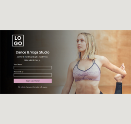 Dance & Yoga Studio Landing Page Template