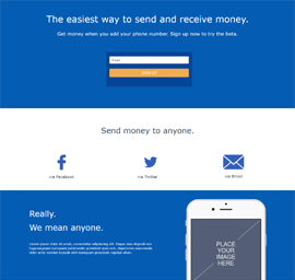 Easy Money Landing Page Template