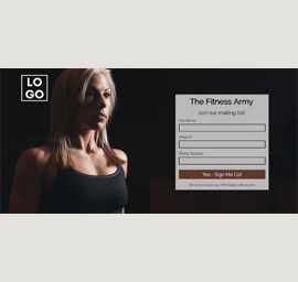 Fitness eBook Download Landing Page Template