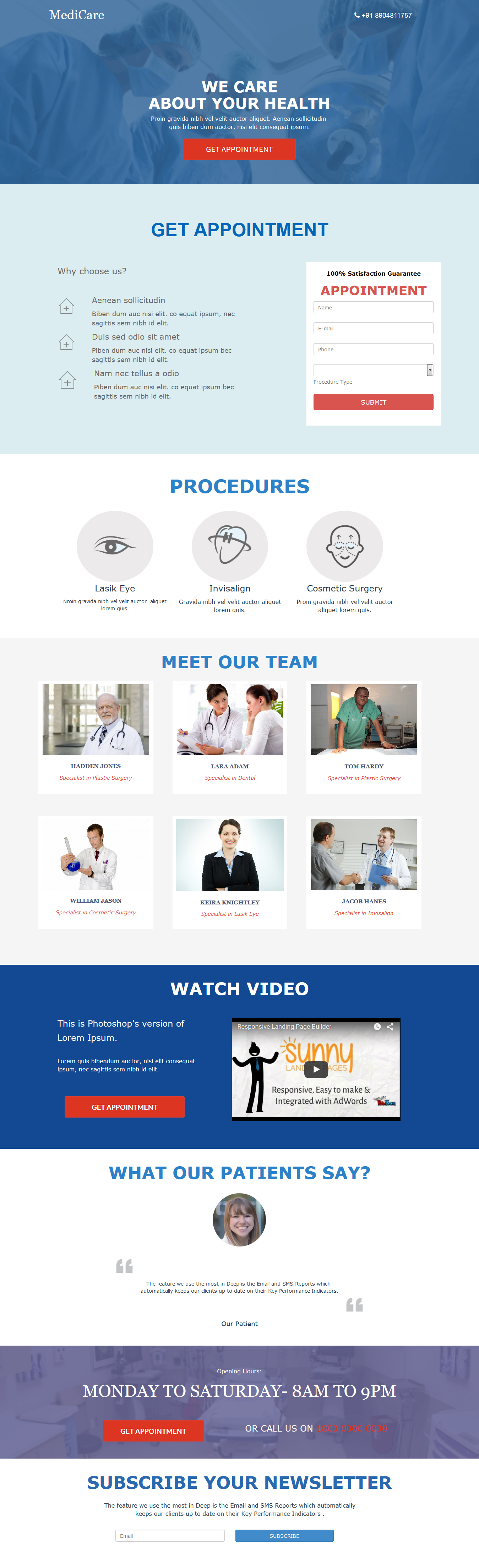 Get Appointment Landing Page Template