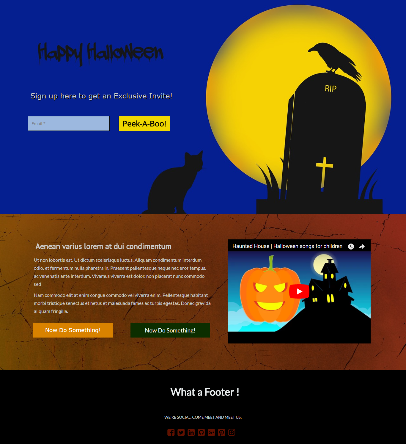 Haunted Halloween Landing Page Template