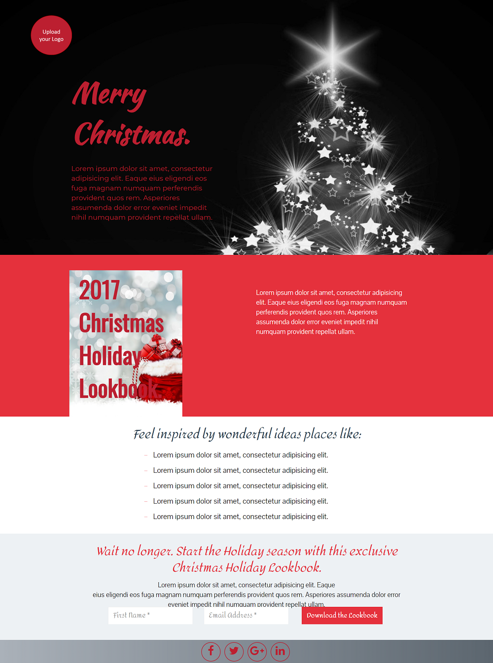 Holiday Season Landing Page Template