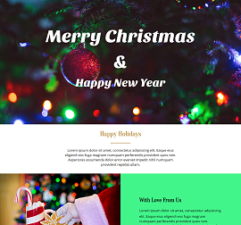 Jingle Bells Landing Page Template