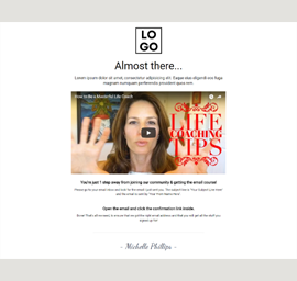 Life Coach Video Landing Page Template