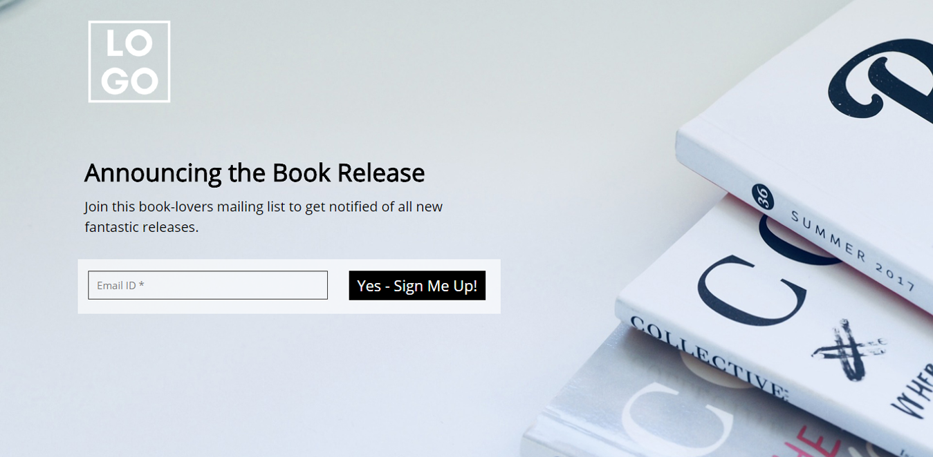 New Book Release Landing Page Template
