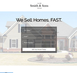 Real Estate Agent Landing Page Template
