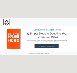 Report Download Landing Page Template