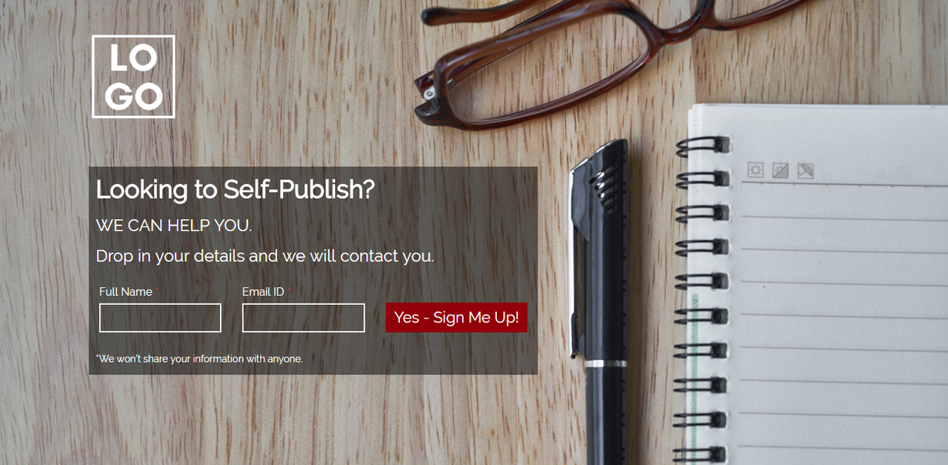 Self Publish Landing Page Template