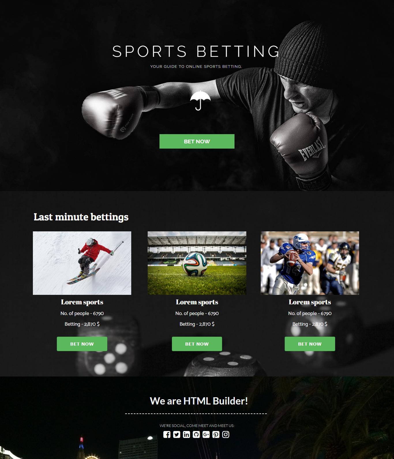 Sports betting template pro football betting