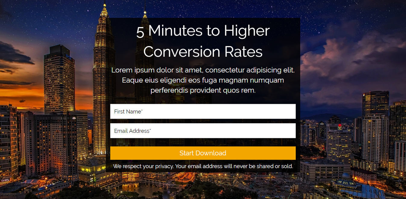 Squeeze for Conversions Landing Page Template