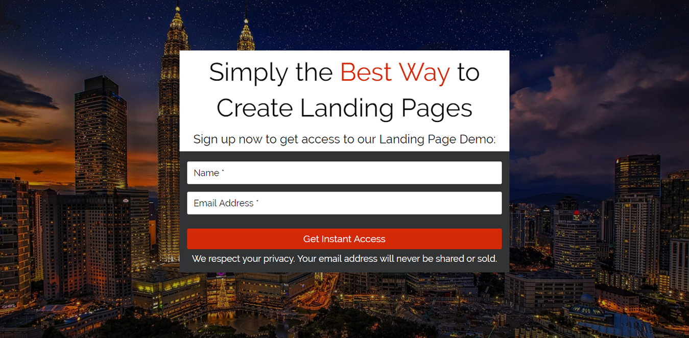 Squeeze page for Bloggers Landing Page Template