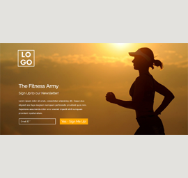 The Fitness Army Landing Page Template