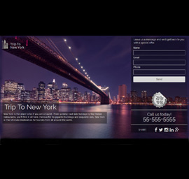 Trip To New York Landing Page Template