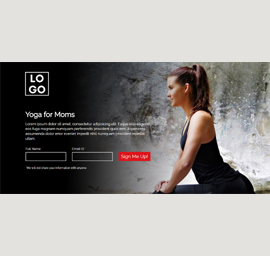 Yoga Class for Moms Landing Page Template