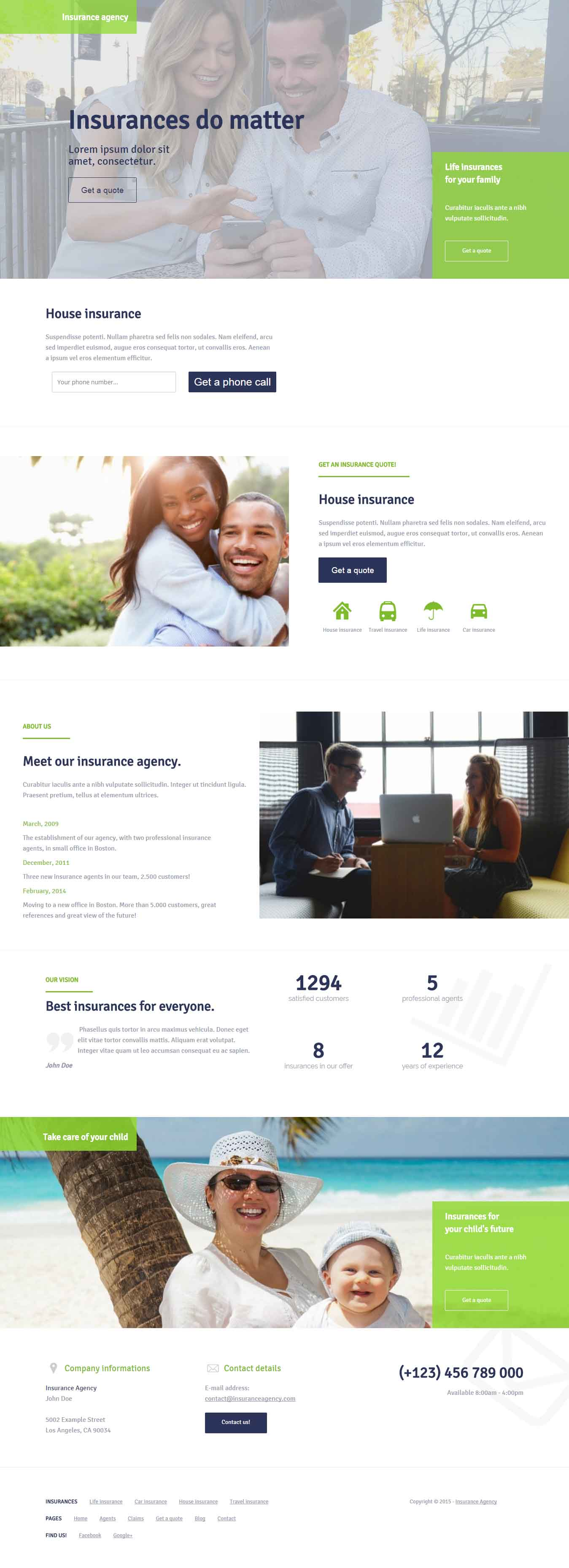 House Insurance Landing Page Template