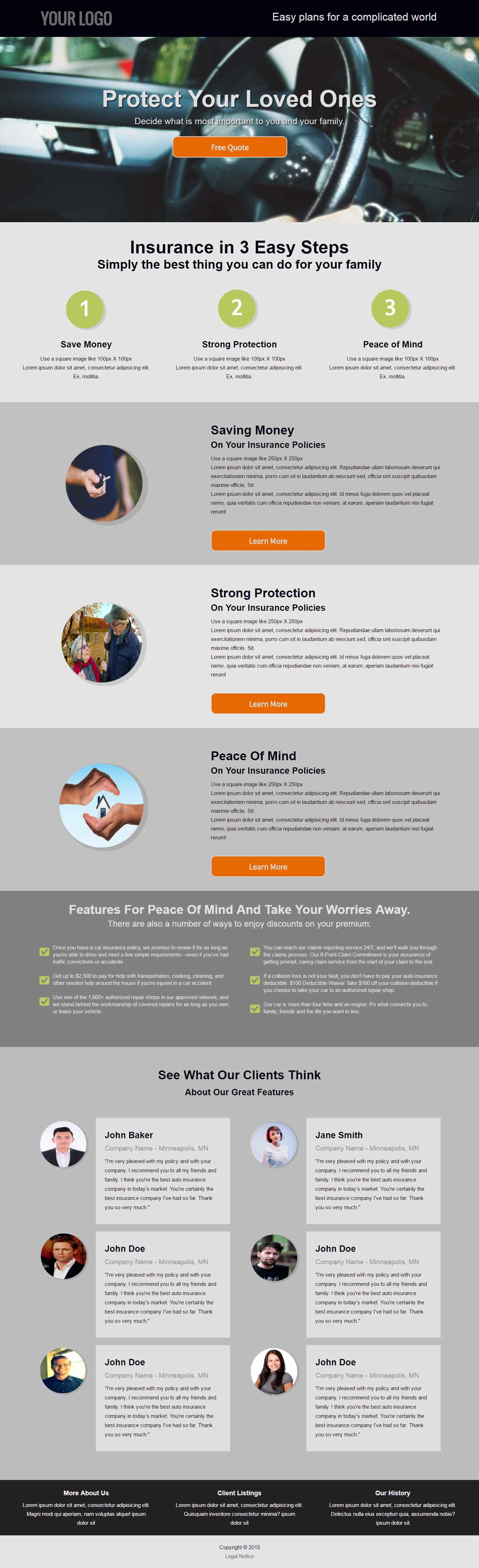 Insurance Policies | Sunny Landing Page Template