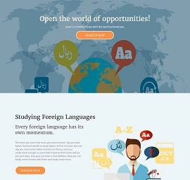 Learn Language Landing Page Template