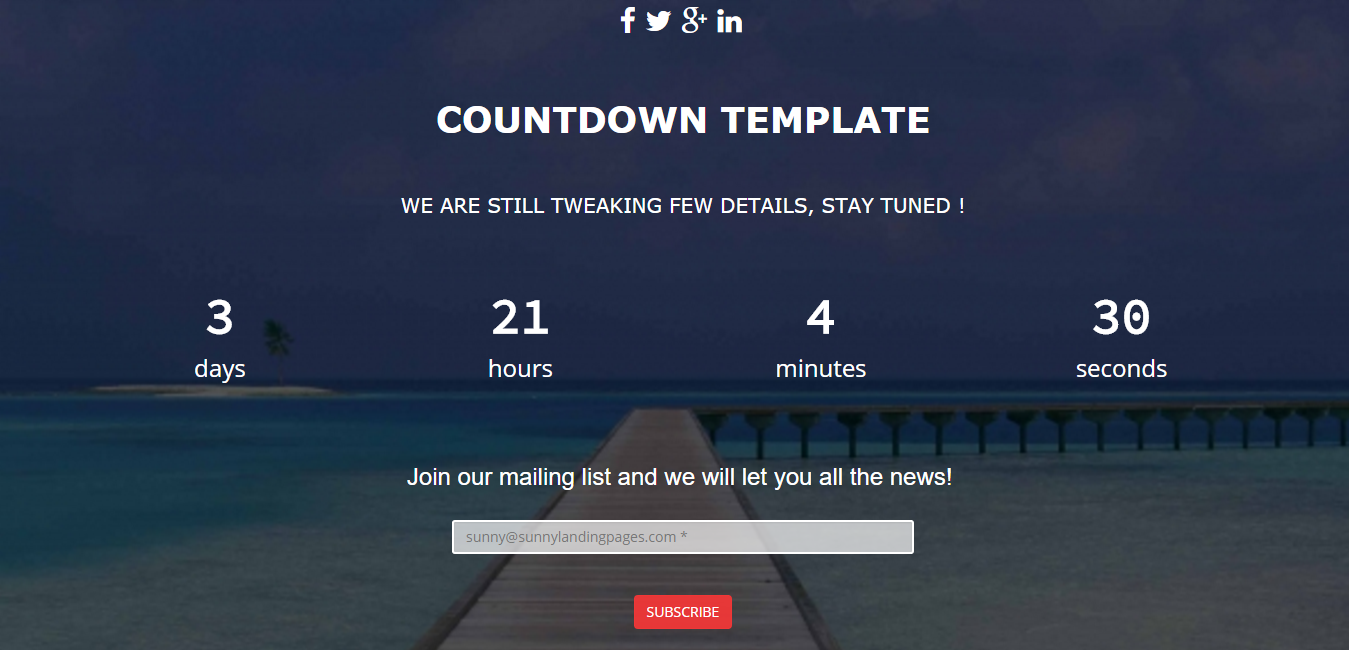 Holiday Sunny Landing Page Template