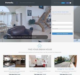 Home4u Real Estate Landing Page Template