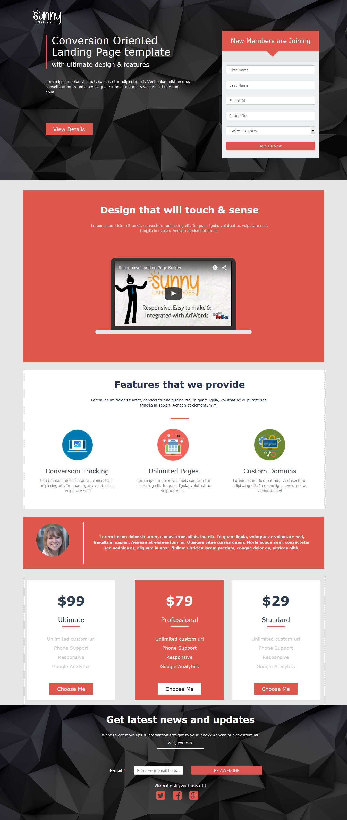 Join Us Landing Page Template