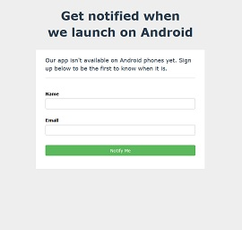 Notify Landing Page Template